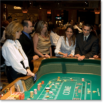 Live craps at a land-based casino