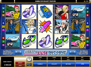 microgaming video pokie agent blonde
