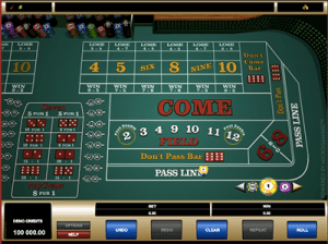 pass line bet on microgaming craps