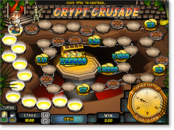 Crypt Crusade Real Money Scratchcard at Emu Casino
