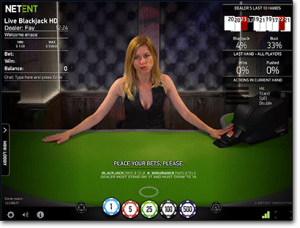 Live NetEnt blackjack