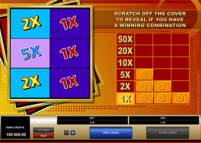 Online scratch card