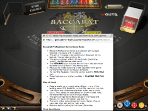 netent real money baccarat rules