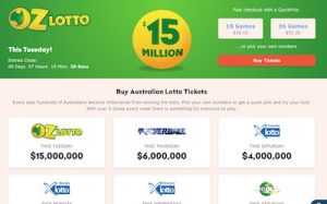 Oz Lotteries desktop