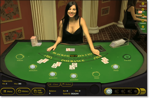 Live Dealer Blackjack at Gday Casino