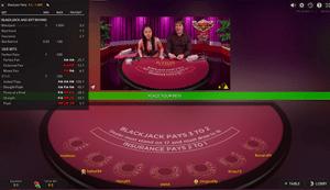 live dealer bet behind options