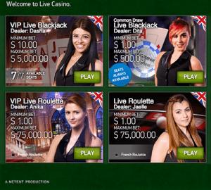 live dealer lobby netent