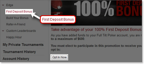 AUD $600 free money bonus at Full Tilt Poker