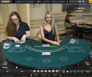 live dealer casino hold'em playtech