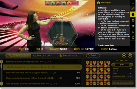 Live Dealer Bingo Gday Casino