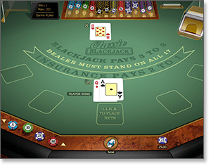 Microgaming Classic Blackjack at Thrills Casino