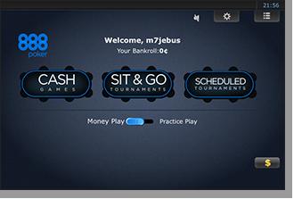 888 Mobile Poker Lobby