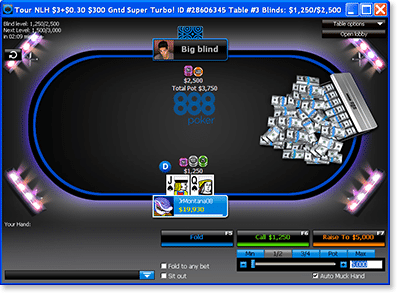 Tournament Play @ 888Poker.com