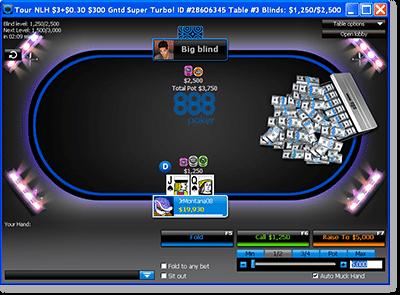 Tournament Play @ 888Poker.com