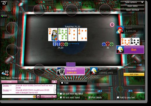 3D Texas Holdem at 888Poker.com