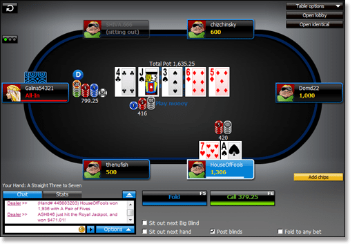 888 Online Poker Tournament