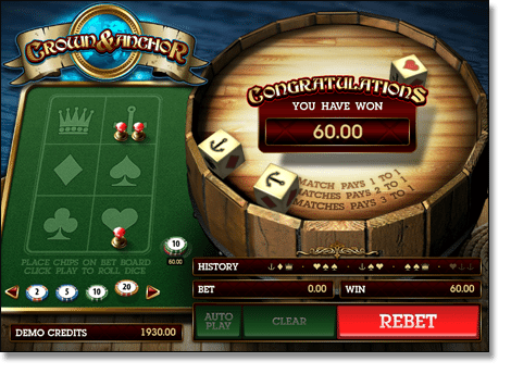 Crown and Anchor Online Casino Game by Microgaming