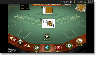 Mobile Blackjack Web App