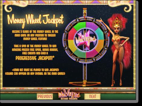 Mr Vegas Progressive Jackpot Wheel