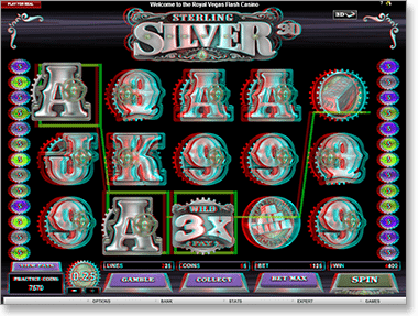 Sterling Silver Real Money 3D Video Slot @ Royal Vegas