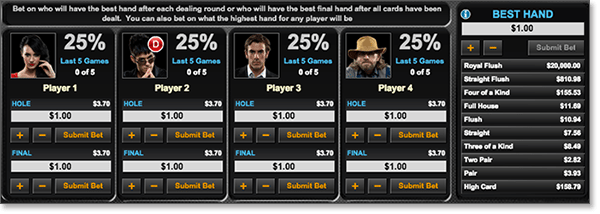 TVP Poker Betting Options