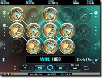 Cosmic Fortune Real Money Online Slot from Net Ent