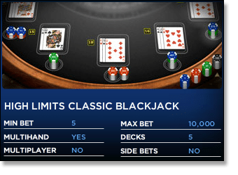 online casino limit