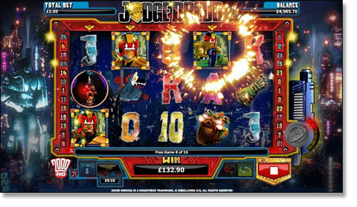 Judge Dredd Pokie Screenshot