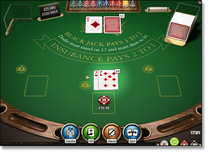 Split a Pair of 7s in Blackjack
