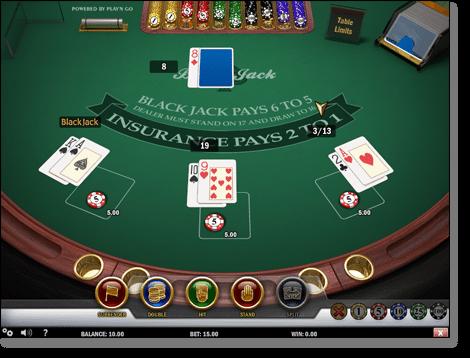 Play'n Go Single Deck Blackjack