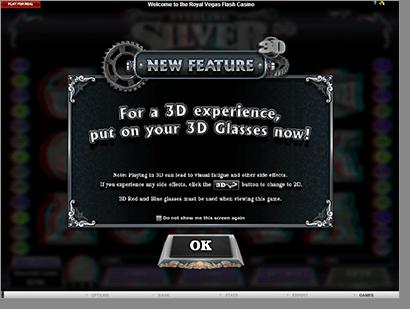 Sterling Silver True 3D Video Slot @ Royal Vegas