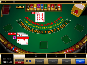microgaming blackjack soft 21