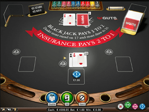 Hard 10 on NetEnts Blackjack Pro