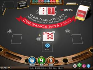Hard 12 on NetEnts Blackjack Pro
