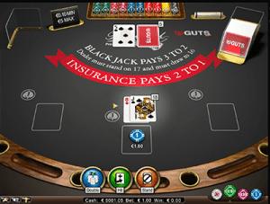 18 on NetEnts Blackjack Pro