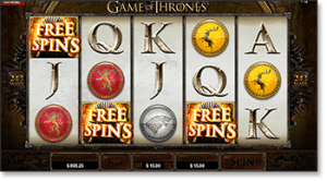 Game of Thrones Online Slot - Free Spins & Scatter Bonus
