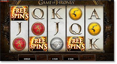 Game of Thrones Scatter Bonus Game
