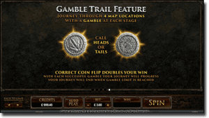 Game of Thrones Video Slot - Gamble Feature