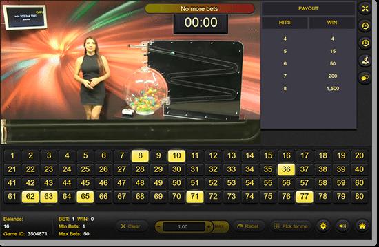 G'Day Casino Live Dealer Keno