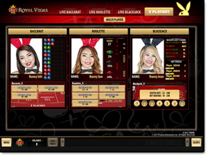 Playboy Live Dealer Microgaming Interface