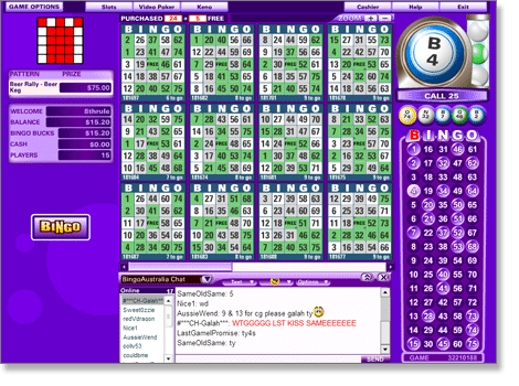 Bingo Australia Cards