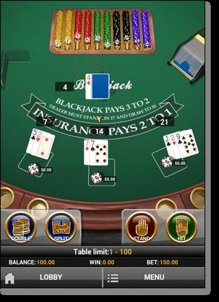 Blackjack Multi-Hand Play N Go