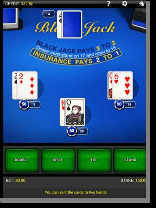 Mobile Blackjack at Gday