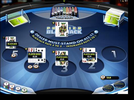 Multihand Premier Blackjack Gold