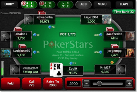 Pokerstars iOS Poker App