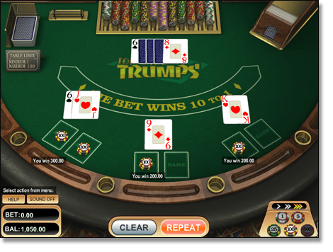 Top Card Trumps Casino War Online