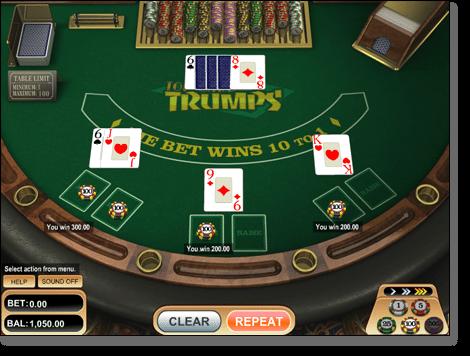 Top Card Trumps Casino War Online