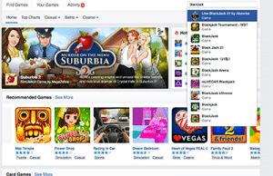 Social media casino games