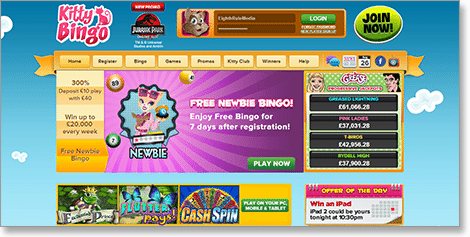 Kitty Bingo Real Money Bingo Online
