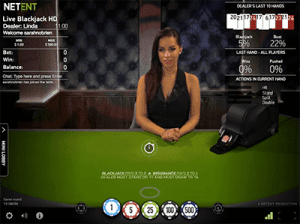 Common Draw live blackjack by NetEnt